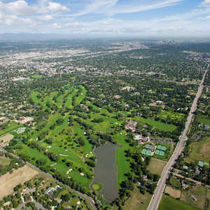 Cherry hills cc aerial view