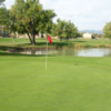 A view of a hole at Lake Arbor Golf Course.