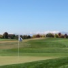 A fall day view of a hole at Highland Meadows Golf Course.