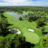 Aerial view of hole #18 at Eighteen Hole Course from Cherry Hills Country Club