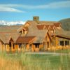 A view of the clubhouse at Mountain from Cordillera Golf Course