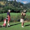 A view of a green at Lake Estes Executive 9 Hole Course