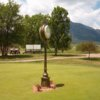 A view of the practice putting green at Cheyenne Shadows Golf Course