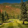 A fall view from a tee at Aspen Golf Course