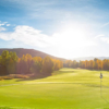 A sunny day view of a green at Sonnenalp Club.
